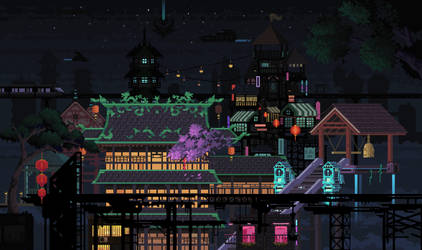 Asian Cyberpunk by Kingkersharks