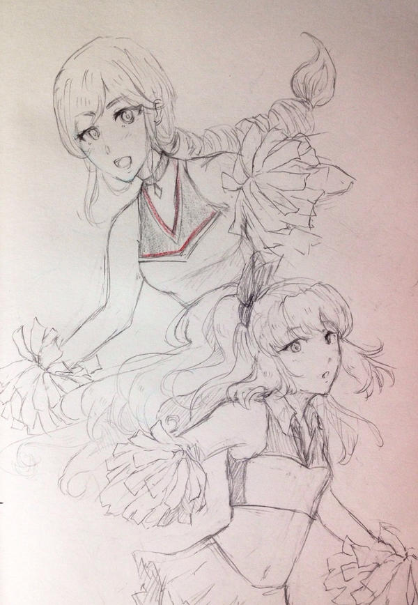 AoH: Sielith and Elisabeth Cheer by S-hui