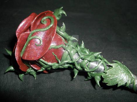 Crimson Rose Hair Wand side b