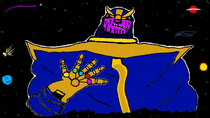 Thanos and the infinity gauntlet by Micky1966
