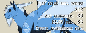 All Flat Colors are $12 until Further Notice!!