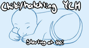 Unlimited Sleeping chibi/hatchling YCH by Icy-Marth