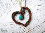 Rooty-heart pendant