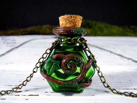 Green hexagon potion bottle
