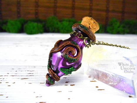 Purple potion bottle necklace