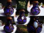 Magic potion bottle with rainbow moonstone by Ilvirin