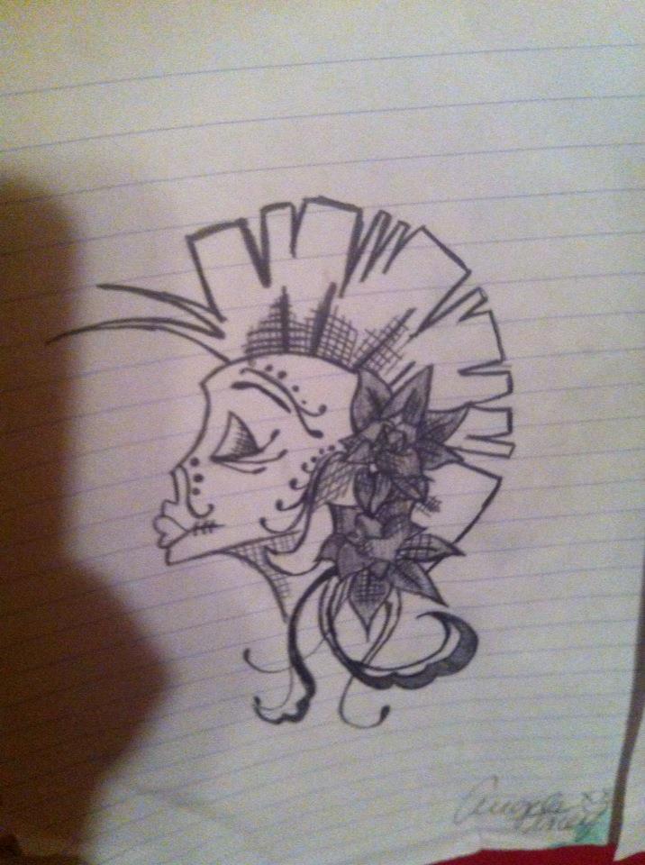 Beautiful Sugar Skulls Drawings Beautiful Rebel Sugar Skull by