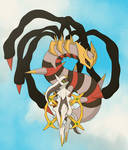 Giratina and Arceus by mimikibi