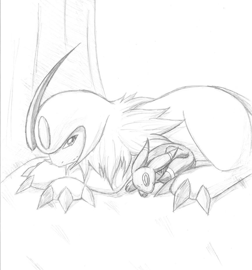 coloring pages absol - photo#30