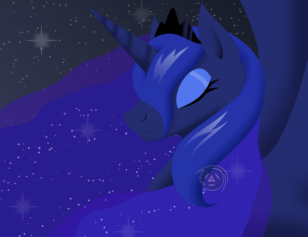 Princess Luna - Goddess of the Night by ErinKarsath