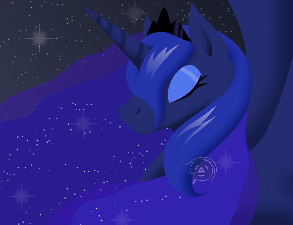 Princess Luna - Goddess of the Night by ErinKarsath
