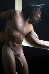male nude crucifixion by artisian666