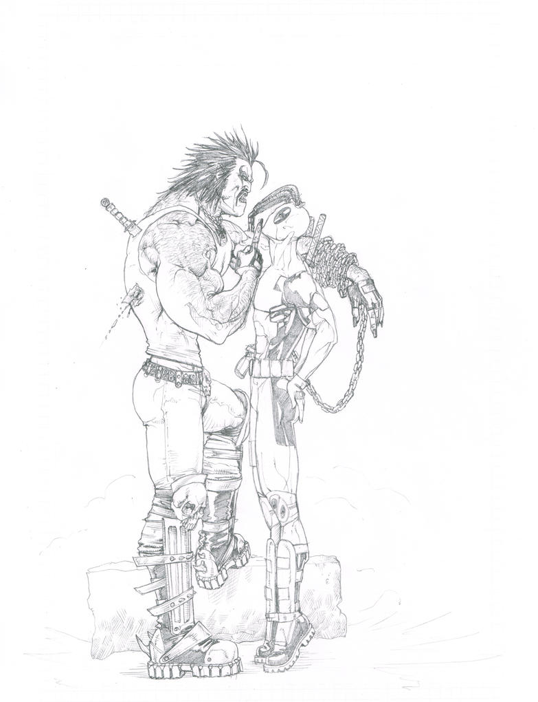 Lobo-Deadpool by EJMorges
