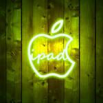ipad Wallpaper - Apple Neon