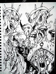 Inktober 2018, Day 24: The Enemy - Infested by CJyamaue