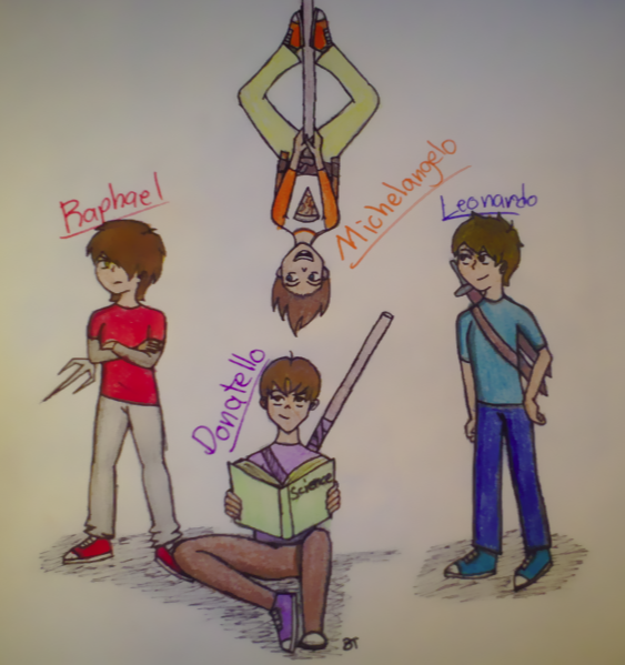 TMNT: Human Versions by xXDanielPhantomXx