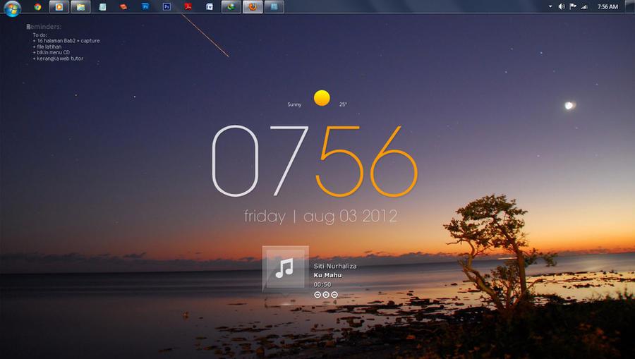 Minimalis desktop August 2012