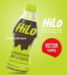 Hilo Bottle Mockup - Photoshop vector shape