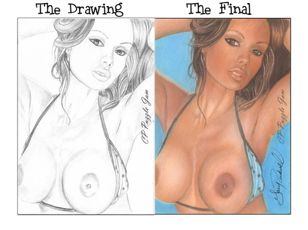 Crissy Moran Pencil Sketch and Final by ariess