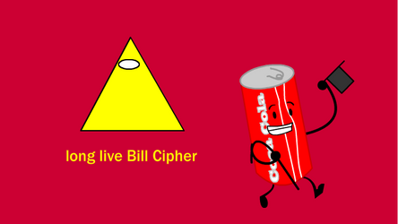 Cola Can as Bill Cipher