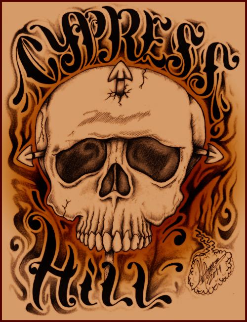 Cypress Hill Skull 2011 by Insanemoe