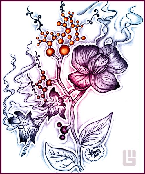 Atom Flowers by Insanemoe