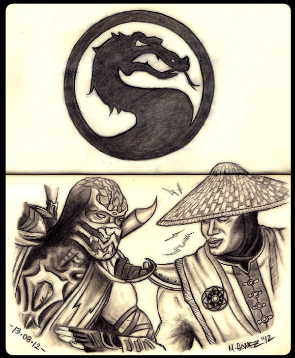 Mortal Kombat : Scorpion vs Raiden by Insanemoe