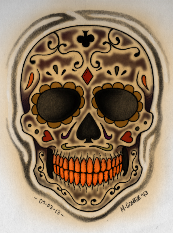 Candy Skull by Insanemoe