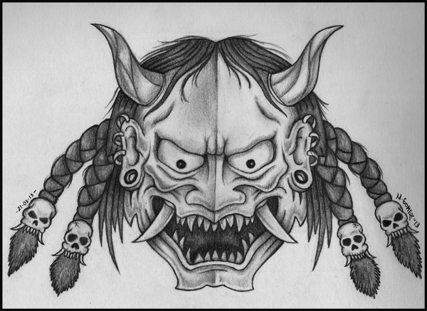 hannya mask by insanemoe on deviantart. Black Bedroom Furniture Sets. Home Design Ideas