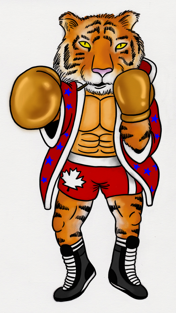 Boxing Tiger by Insanemoe