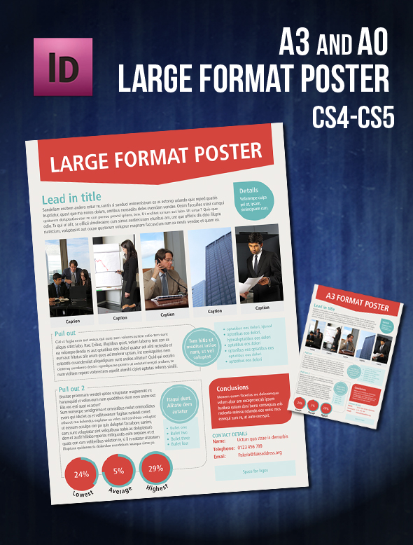 Infographic A0/A3 poster InDesign template by Sleight0fhand on ...