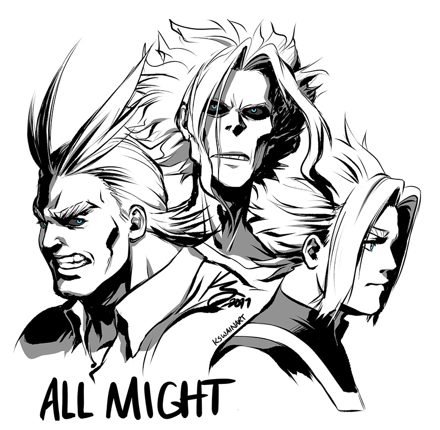 how to draw all might