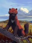 The Crimson Beast greets you