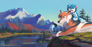 Commission: Shiloh and Quaylak by Astarcis