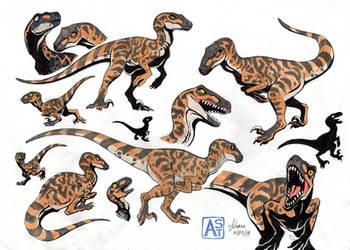 The Isle: utahraptor by Astarcis