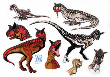The Isle: carnotaurus by Astarcis