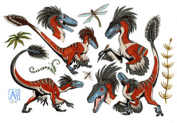Deinonychus girl by Astarcis
