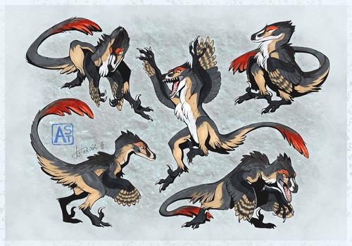 Commission: Little raptor