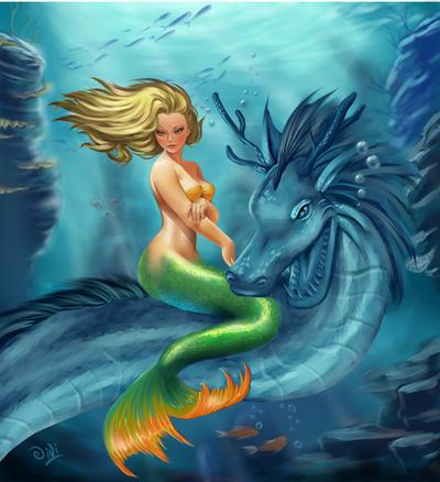 Commission Sirena Bonita, censored by Didi-Esmeralda