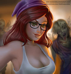 Sophie Selfie in zombie apocalypse by Didi-Esmeralda