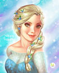 Happy Holidays Fanart Elsa