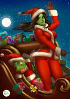 SheHulk Merry Christmas by Didi-Esmeralda