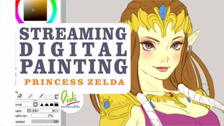 Now Streaming Princess Zelda by Didi-Esmeralda