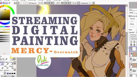 Mercy Overwatch Streaming 10am (GTM-5) by Didi-Esmeralda