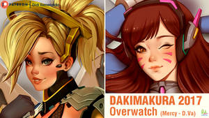 Dakimakura Art Overwatch Mercy and D.Va