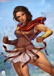 Kassandra_Assassins Creed Odyssey_Commission Chris by Didi-Esmeralda