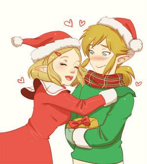 Happy Holidays Princess Zelda and Link