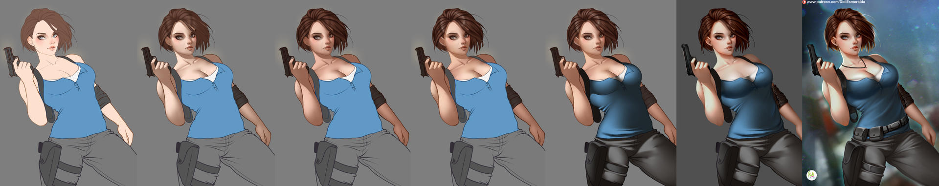 Jill Valentine Step By Step