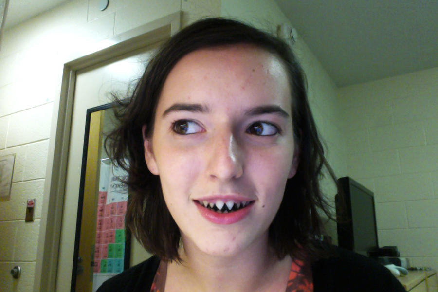 Sharp Teeth by ColorsInTheAirHumans With Sharp Teeth