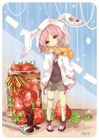 Strawberry Bunny by Myul
